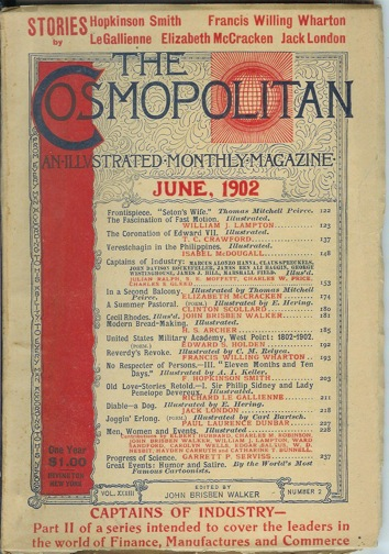 DIABLE: A Dog. (Short story in Cosmopolitan Magazine. Vol. XXXIII, No. 2. June 1902. Later collected in Faith of Men). Jack London.