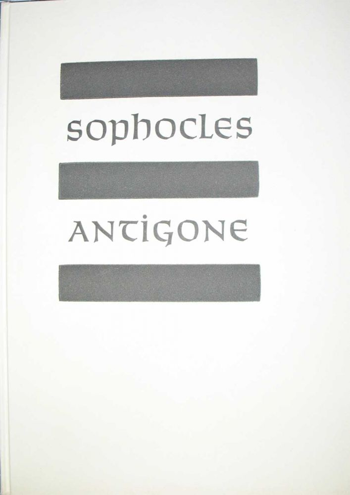 ANTIGONE. Allen Press, Sophocles.