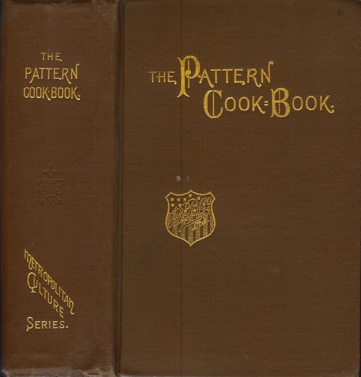 THE PATTERN COOK-BOOK. Anonymous., Edna Witherspoon.