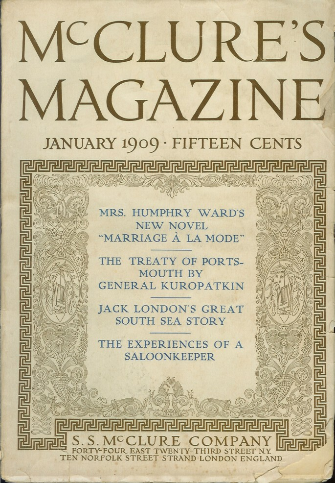 THE HOUSE OF MAPUHI. Short story in McClure's Magazine, Vol. XXXII, No. 3, January, 1909. Later collected in South Sea Tales. Jack London.