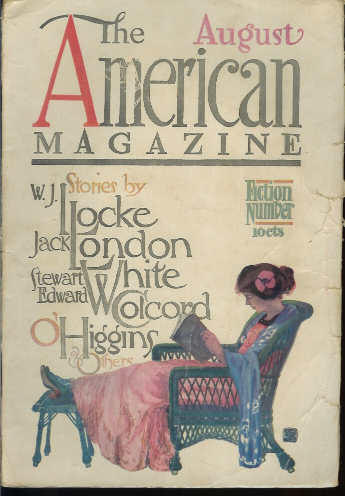 """THE SHERIFF OF KONA. (Short story in The American Magazine. Fiction Number, August 1909. Later collected in """"The House of Pride""""). Jack London."""