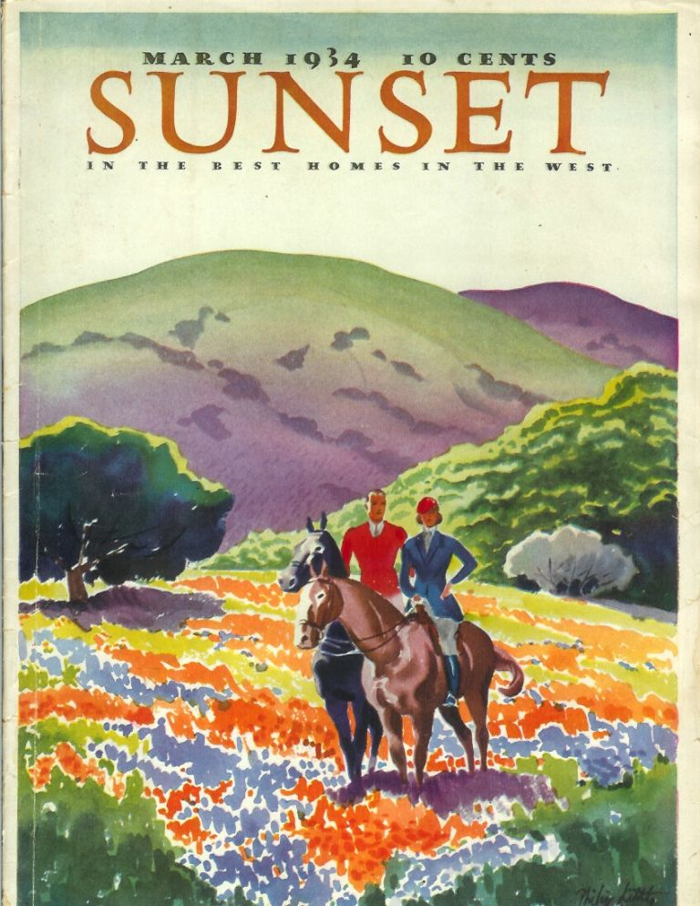 SUNSET MAGAZINE (The Pacific Monthly), Vol. 72, No. 3. March, 1934. Sunset.