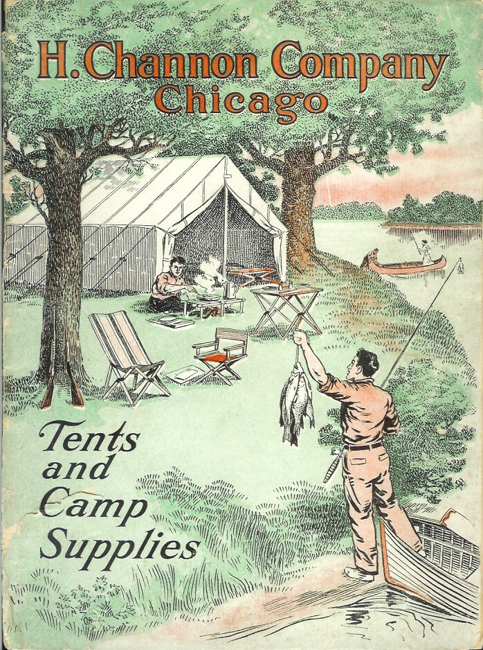 TENTS AND CAMP SUPPLIES (cover title). Camping/Outfitting, H. Channon Co.