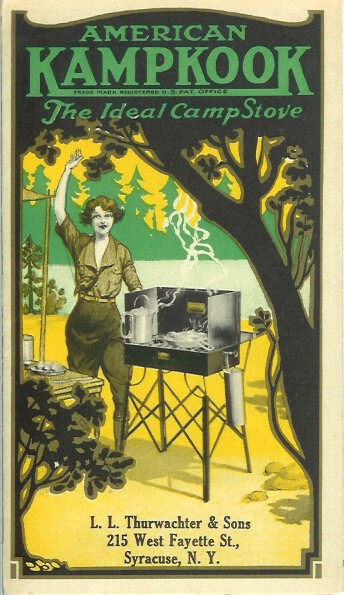 AMERICAN KAMPKOOK: The Ideal Camp Stove. Camping/Outfitting, American Gas Machine Co.