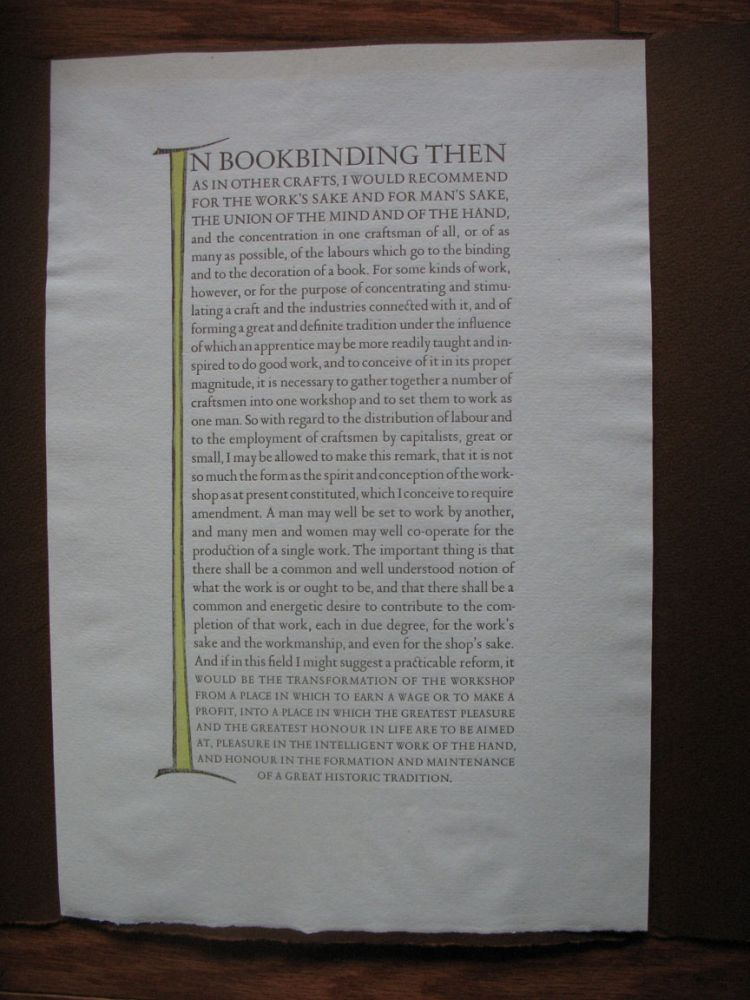 """""""In Bookbinding Then."""" (Golden Rules for the Bookbinder). Allen Press."""