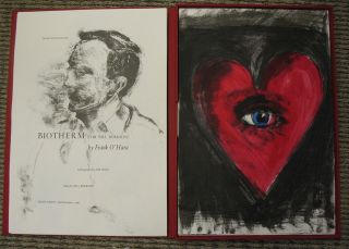 "BIOTHERM (For Bill Berkson). Lithographs by Jim Dine. with ""Companion to Biotherm"" by Bill Berkson"