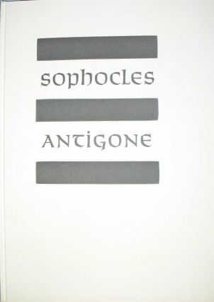 ANTIGONE. Allen Press, Sophocles