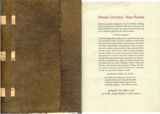 NINE POEMS. Denise Levertov