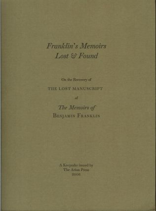 THE MEMOIRS OF BENJAMIN FRANKLIN.