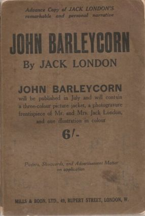 JOHN BARLEYCORN. Jack London.