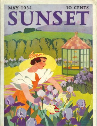 SUNSET MAGAZINE (The Pacific Monthly), Vol. 72, No. 5. May, 1934. Sunset.