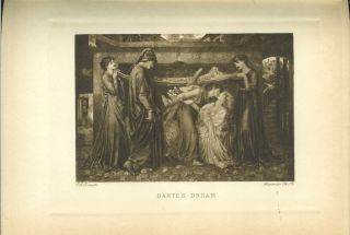LA VITA NUOVA (The New Life) by Dante Alighieri. Translated and Illustrated by Photogravures after Paintings by Dante Gabriel Rossetti. With the Fifth Canto of Dante's Inferno and Rossetti's Two Illustrations thereto.