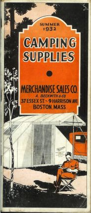 CAMPING SUPPLIES: Summer 1932. (cover title). Camping/Outfitting, Merchandise Sales Co