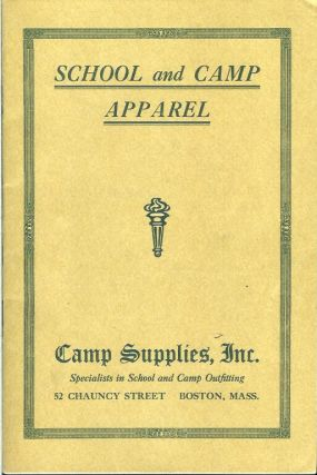 SCHOOL AND CAMP APPAREL. (cover title). Camping/Outfitting, Inc Camp Supplies
