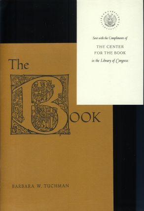 THE BOOK: A Lecture Sponsored by the Center for the Book in the Library of Congress and the...