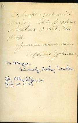 THROUGH THE SOUTH SEAS WITH JACK LONDON (Inscribed and signed by author).