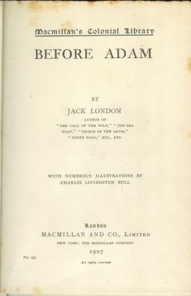 BEFORE ADAM (Unrecorded English edition).