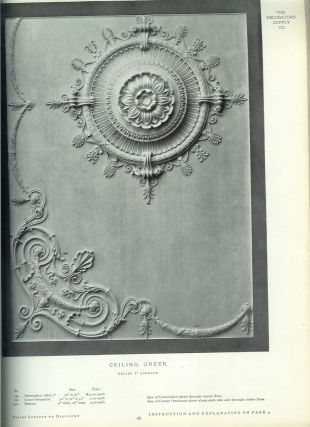 ILLUSTRATED CATALOGUE OF PLASTIC ORNAMENTS Cast In Plaster for Interiors and in Composition for Exteriors. Manufactured by the Decorators Supply Co.