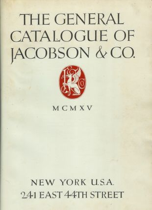 THE GENERAL CATALOGUE OF JACOBSEN & CO. (Cover title: Architecure and Decorative Ornaments).