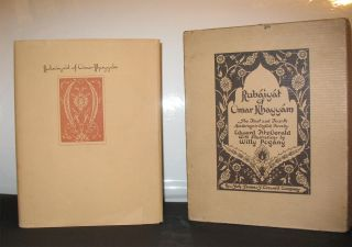 RUBAIYAT OF OMAR KHAYYAM. The First and Fourth Renderings into English Verse by Edward Fitzgerald...