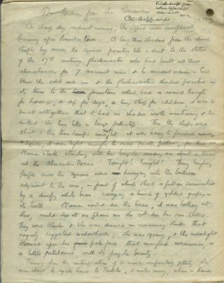 "ORIGINAL HOLOGRAPH MANUSCRIPT OF THE SHORT STORY ""THE MAN FROM THE CARAVAN."" A. E. Coppard"