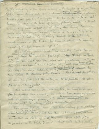 "ORIGINAL HOLOGRAPH MANUSCRIPT OF THE SHORT STORY ""LUXURY."" A. E. Coppard"