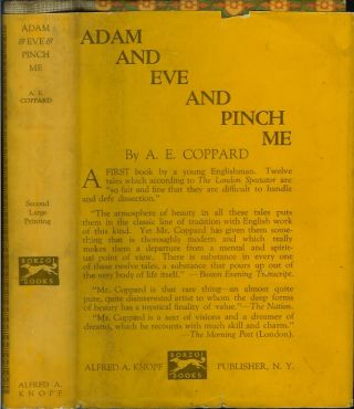 ADAM & EVE & PINCH ME: Tales by A. E. Coppard. A. E. Coppard