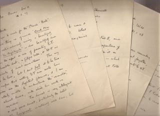 5 AUTOGRAPH LETTERS written to Frederick W. Heath. A. E. Coppard
