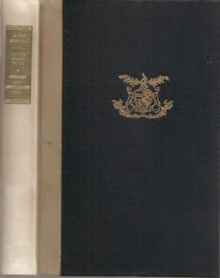 BOSWELL ON THE GRAND TOUR: Germany and Switzerland 1764. (Yale Edition of the Private Papers of...
